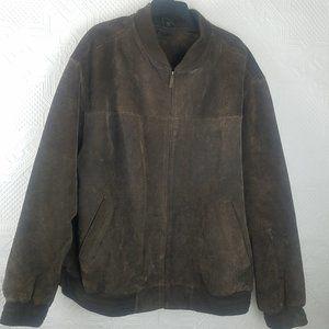 John Ashford Vintage Leather Suede Coat Size 2XL